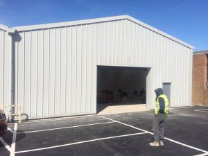 Cladding Repair Services and On Site Spraying to Industrial Unit