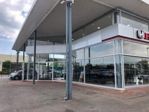 Extensive Cladding and Curtain Walling Repairs on Honda Showroom