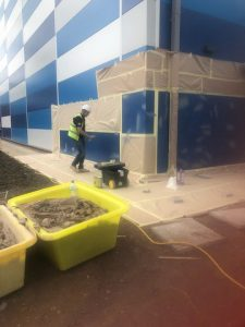 Repairs to outer Kingspan cladding panels with On Site Painting