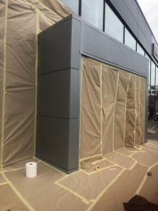On Site Spraying and Paint Services for Lexus Showroom