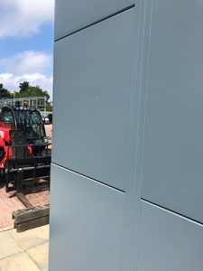 On Site Powder Coatings Project for a Company in Wales