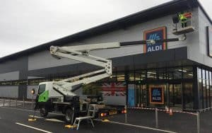 Aldi Shop Front Cladding Repairs
