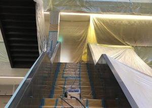 Onsite Staircase Spraying | Elevation Coatings