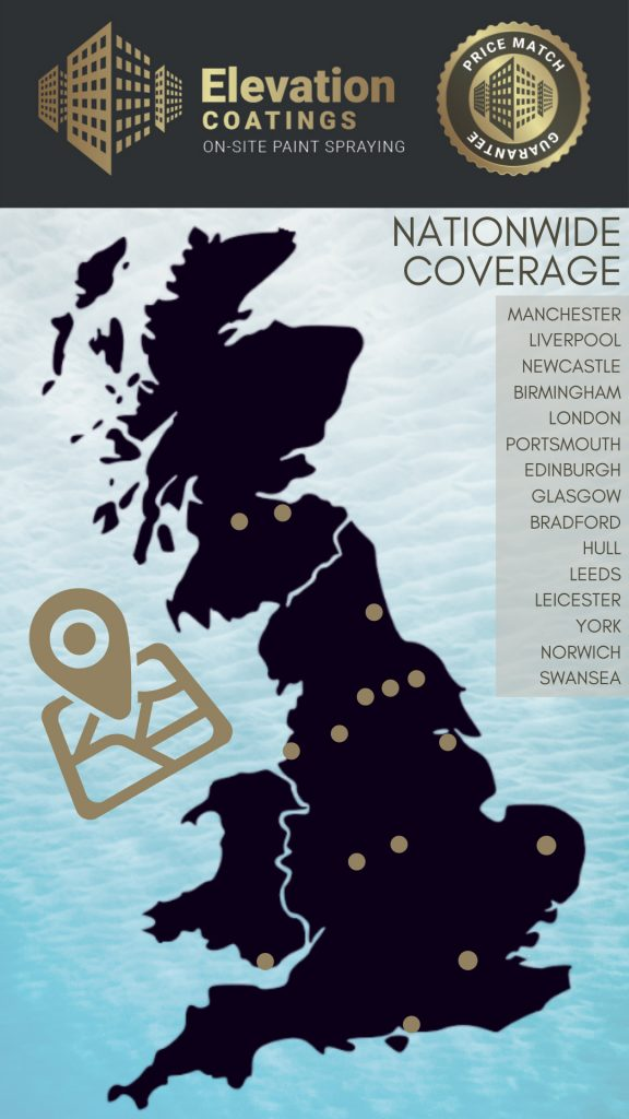 Elevation Coatings Nationwide Coverage Map